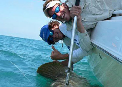 Goliath Grouper by the Boat