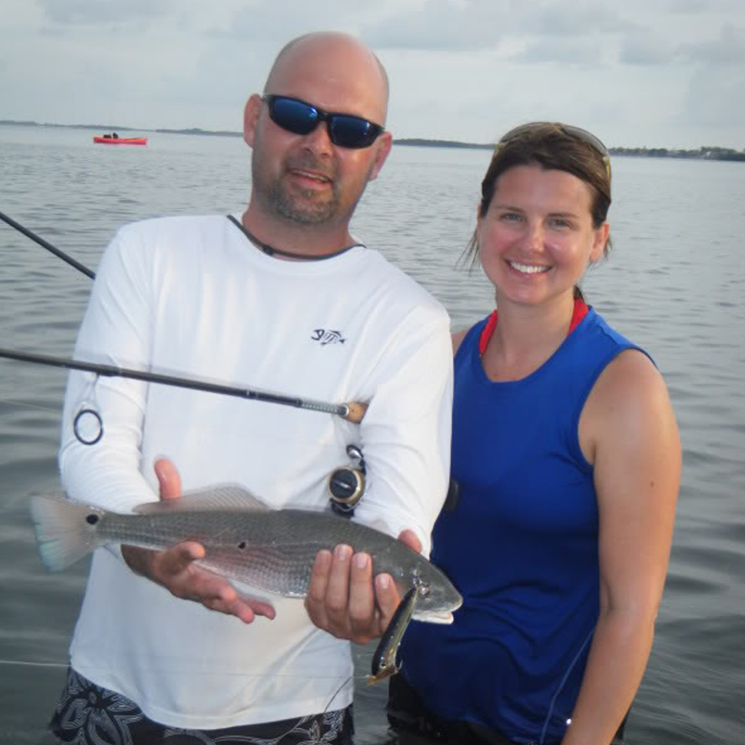 Brandon and Stacy had a great charter working the topwater inshore.
