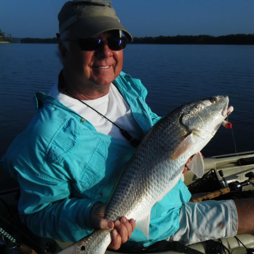 Dave had a great time on the water bringing up Redfish with topwater.