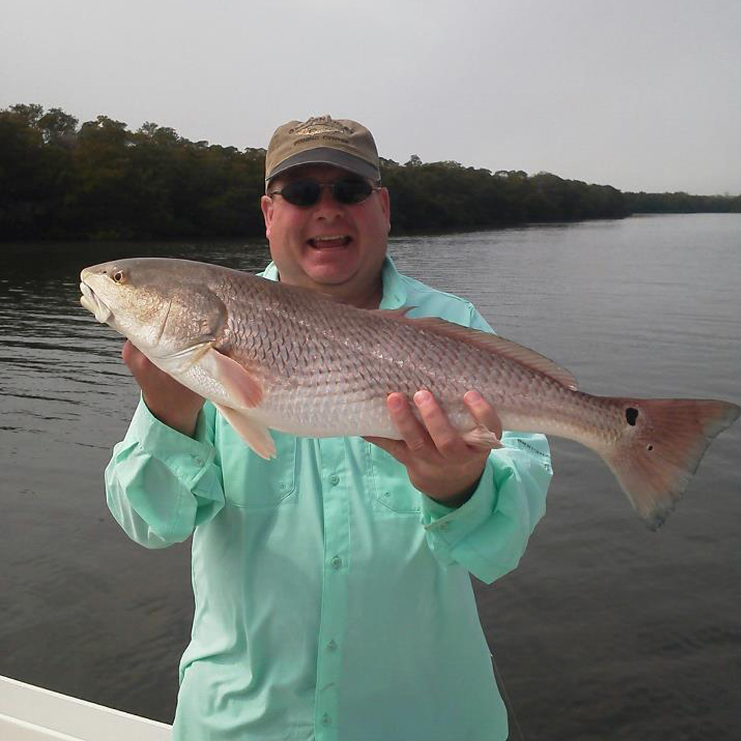 Ben had a blast on his inshore charter, pulling this Redfish out of the mangroves.