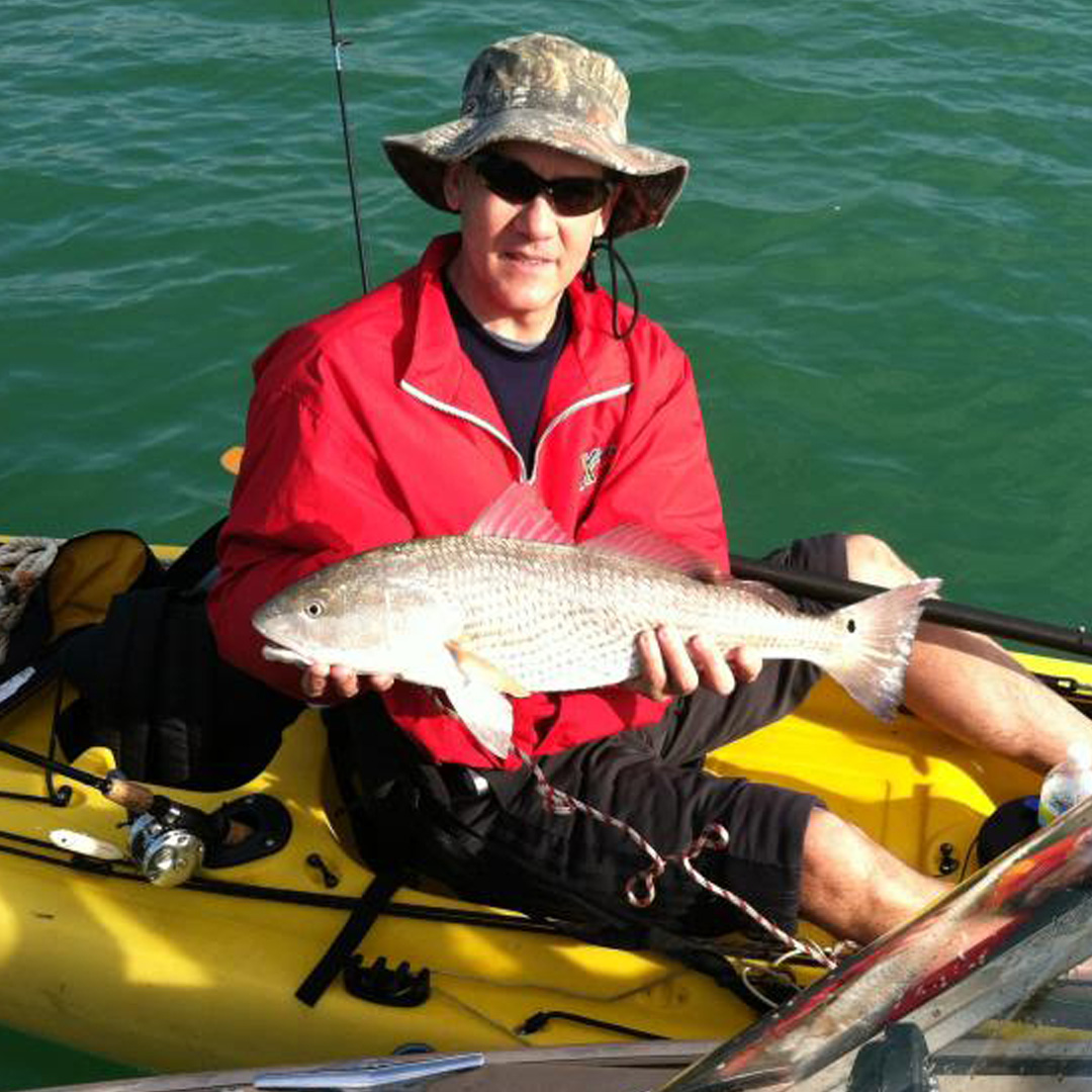 John landed this Redfish near Fort Desoto from a kayak.