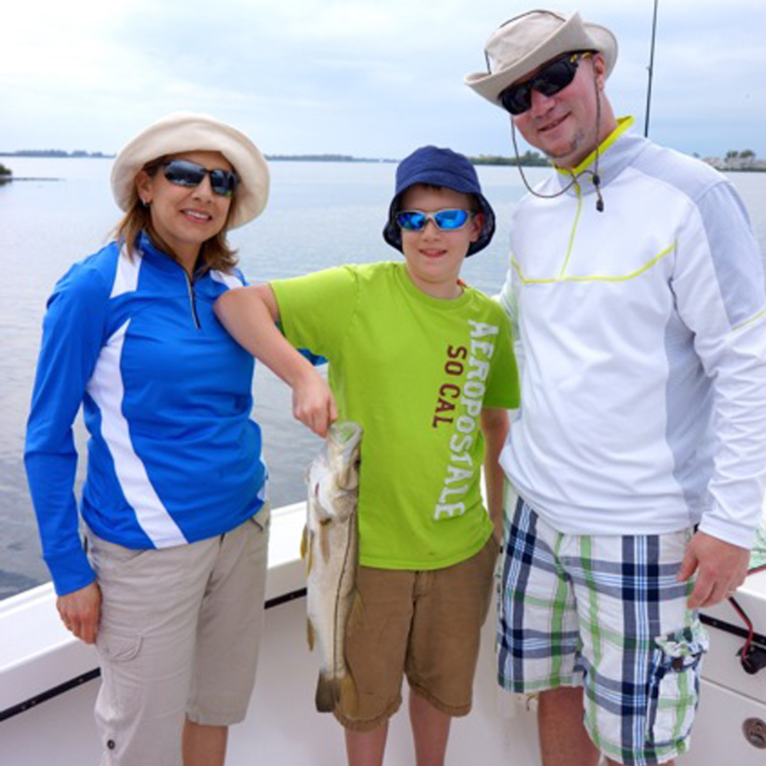 Scott had a great time with his family fishing inshore.